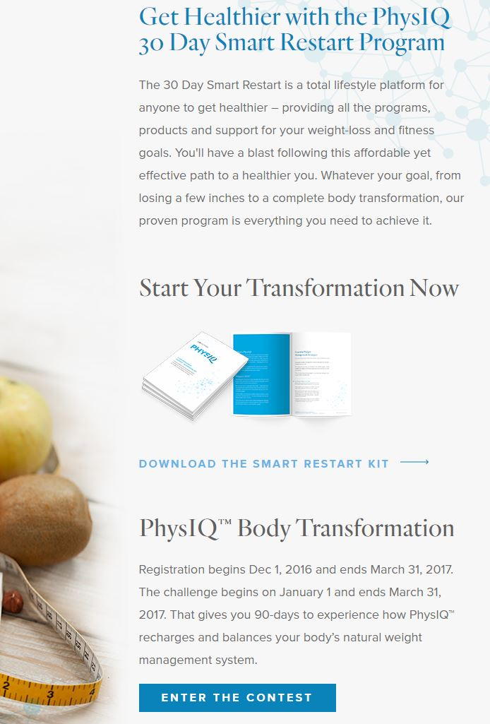 PhysIQ for body transformation